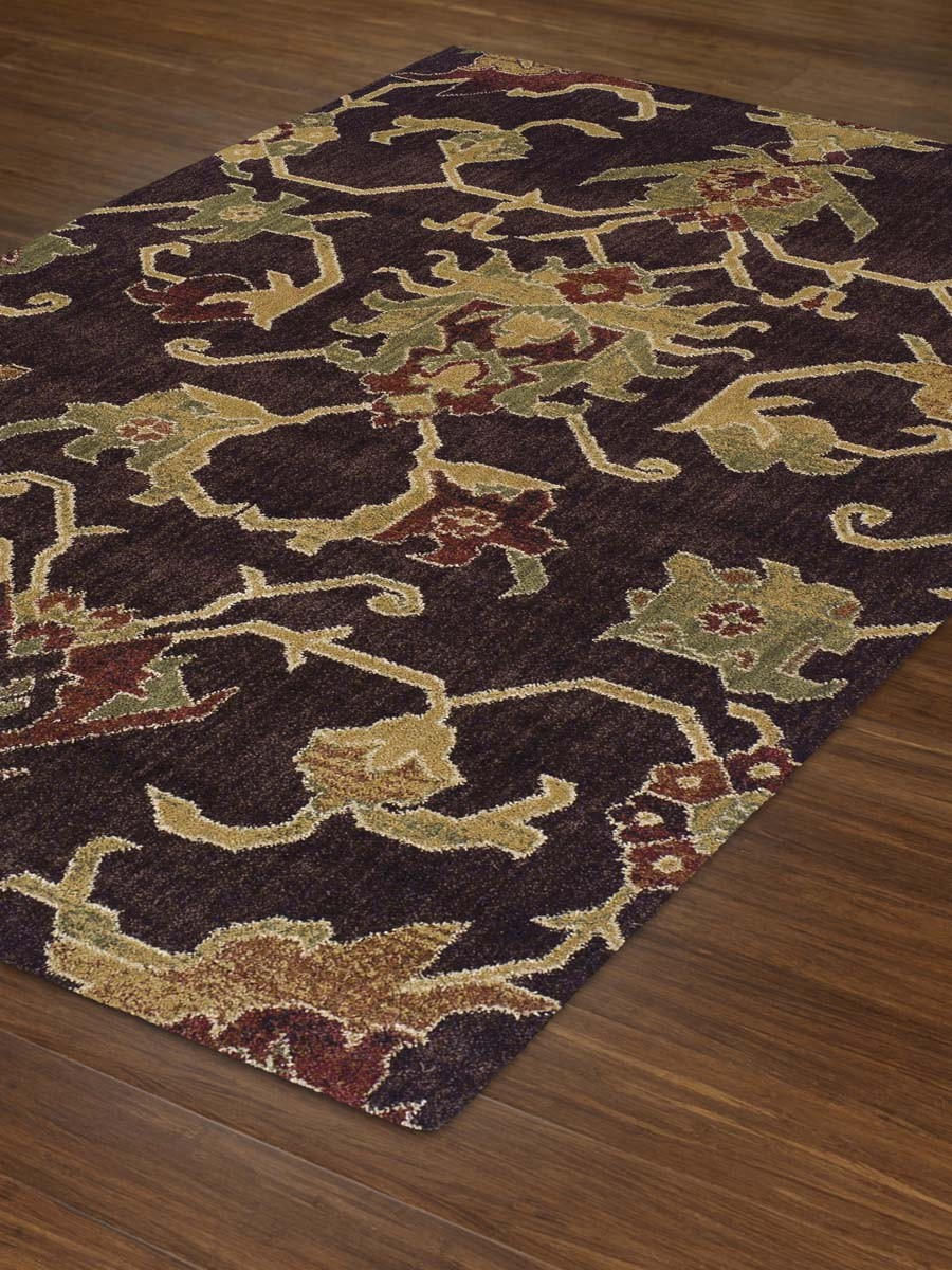 Contemporary rectangle Chocolate Rug 5ft 3in X 7ft 7in Columbia CM31 by dalyn rugs for floor decor ideas