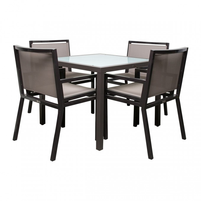 Cool Dining Table Set In Gray Theme By Janus Et Cie Outdoor Furniture For Outdoor Furniture Ideas