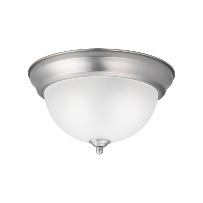Cozy 2 Light Flush Mount Ceiling Light Brushed Nickel By Cardello Lighting And Decor For Home Ideas