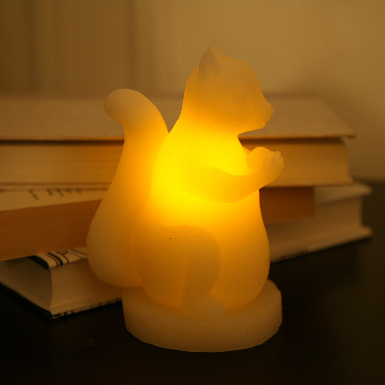 cozy flameless candles with timer in Squirrel design for home decoration ideas