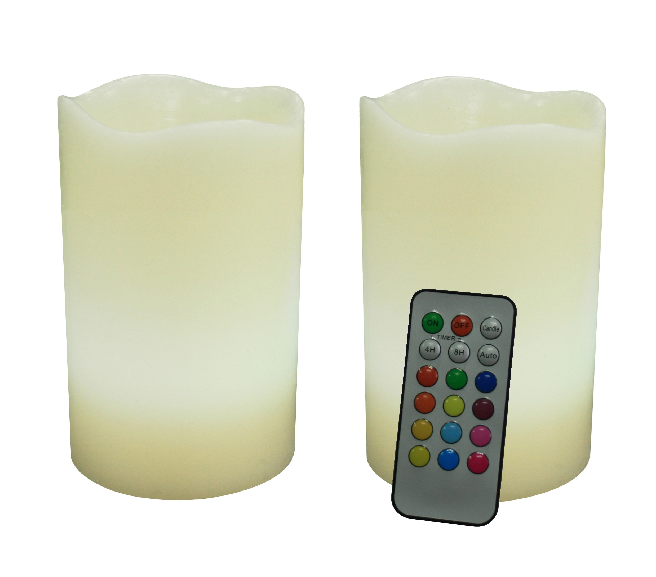 cozy flameless candles with timer set in two for home decoration