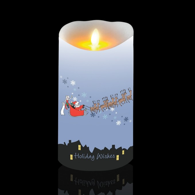 Cozy Flameless Candles With Timer With Christmas Ornament For Christmas Decoration Ideas