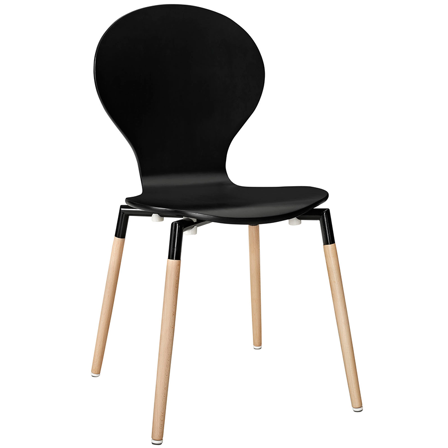 cozy Portugal Black Dining Chair in black with cream legs by eurway furniture for home furniture ideas