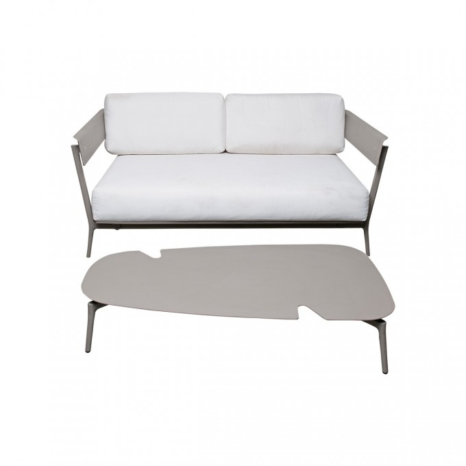 Cozy Sofa With White Cushion Seat And Back Plus Decorative Table By Janus Et Cie Outdoor Furniture For Outdoor Furniture Ideas