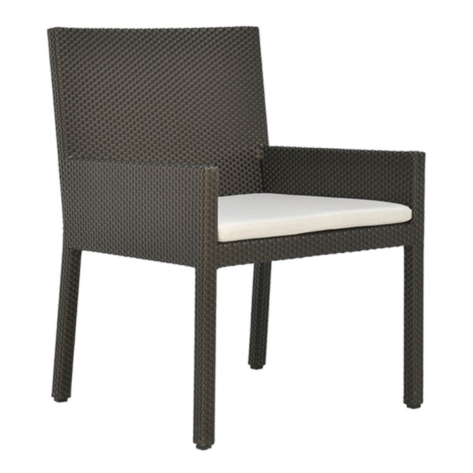 Cozy Wicker Chair With Cushion Seat By Janus Et Cie Outdoor Furniture For Outdoor Furniture Ideas
