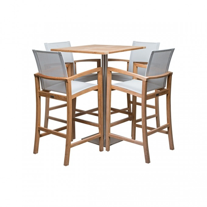 Dining Table Set With Square Table And Chair Set In Four By Janus Et Cie Outdoor Furniture For Outdoor Furniture Ideas