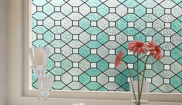 elegant motif design in green of artscape window film for window decor ideas