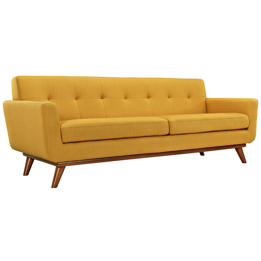 Empire Citrus Sofa in yellow with brown wooden legs by eurway furniture for home furniture ideas