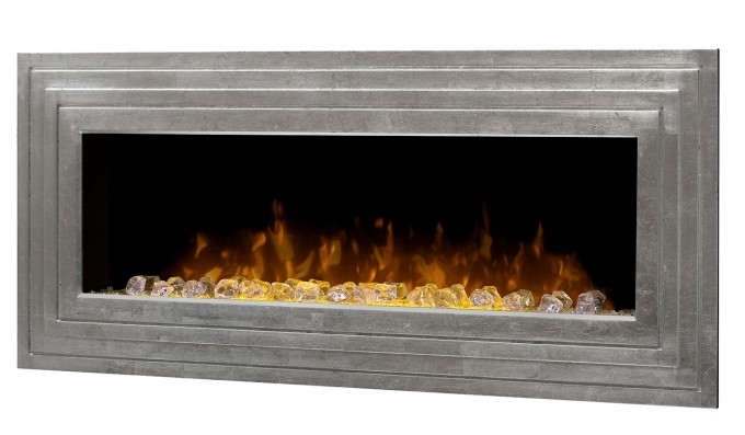 Fancy Dimplex Electric Fireplaces With Silver Frame For Home Heatwarming Ideas