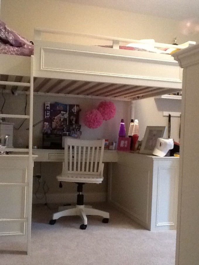 Fancy Loft Beds For Teenagers In White With Desk And Storage For Teens Bedroom Furniture Ideas