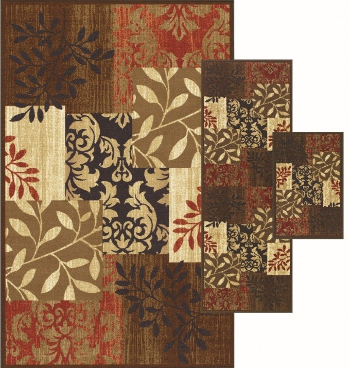 Fancy Rectangle Dalyn Rugs In Floral And Leaves Motif Design For Floor Decor Ideas