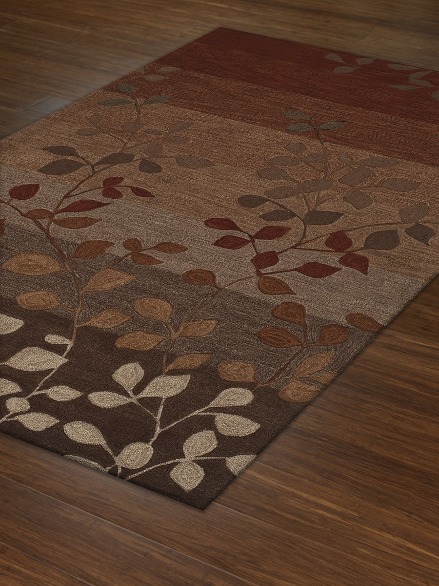 fancy stripped dalyn rugs with leaves motif for floor decorating ideas