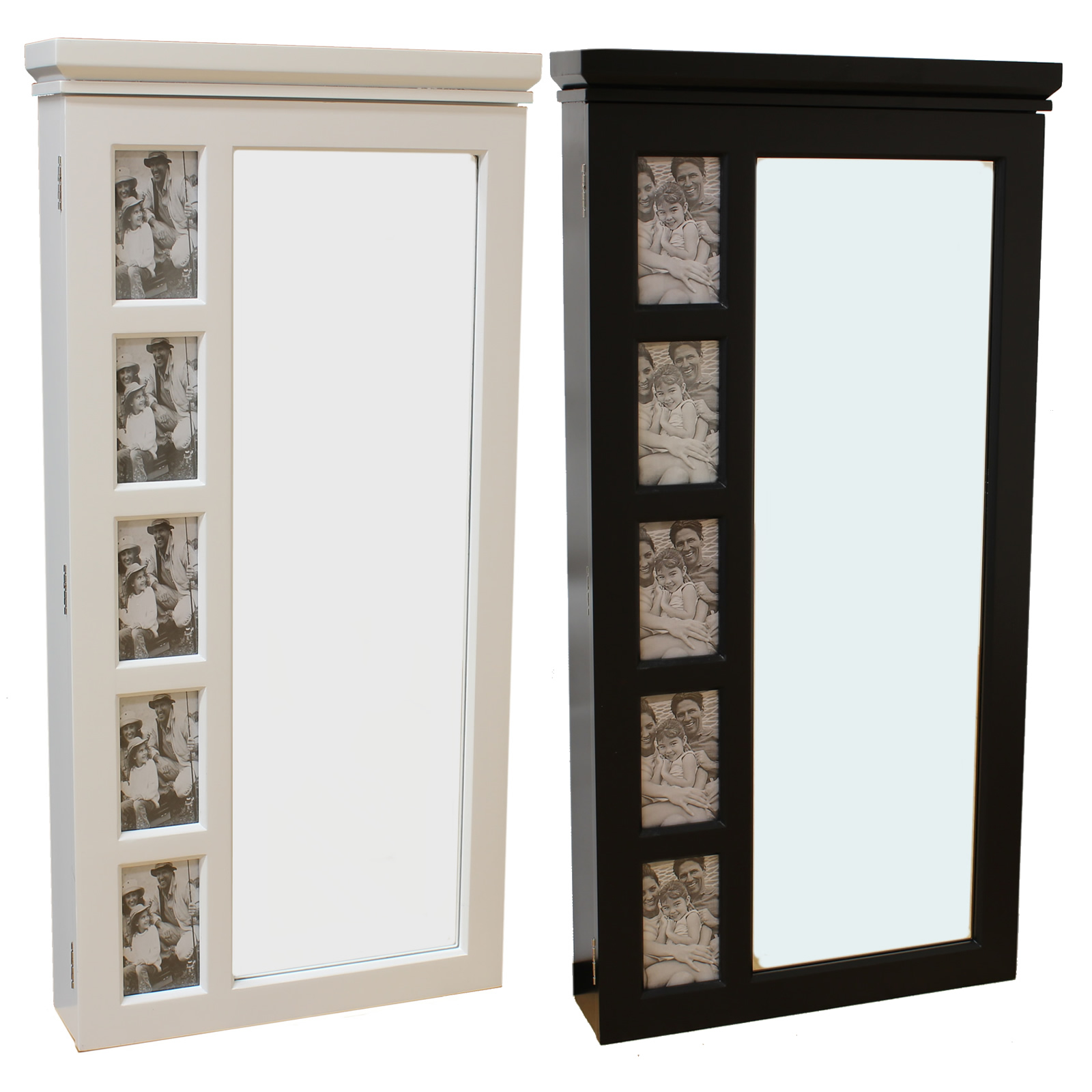 Fancy Wooden Standing Mirror Jewelry Armoire Without Stand In Black And White Option Colors For Home Furniture Ideas