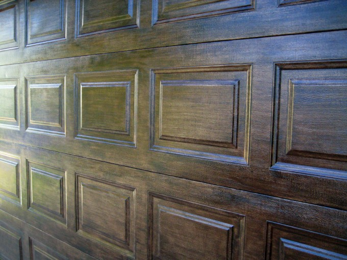 Faux Wood Doors Using Minwax Gel Stain For Home Furniture Ideas