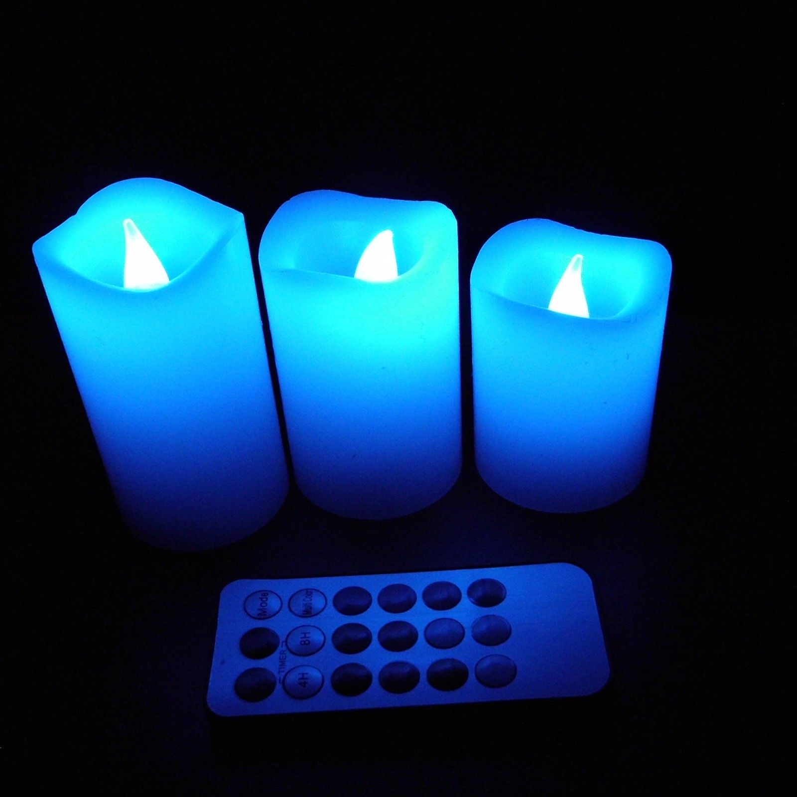flameless candles with timer changing to blue for home decoration ideas