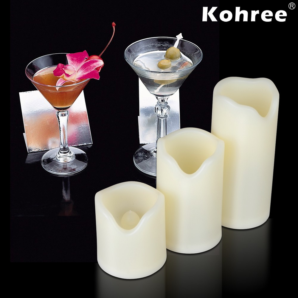 flameless candles with timer set in three for home decoration ideas