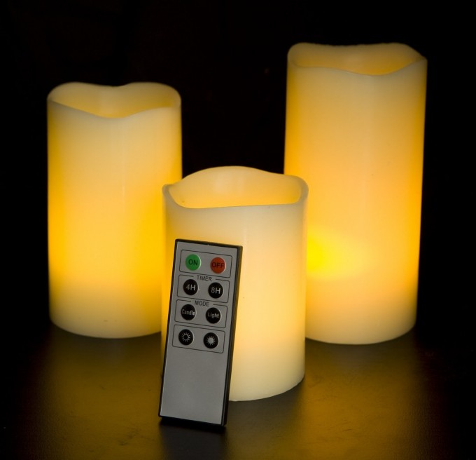 Frostfire Mooncandles Vanilla Scented Flameless Candles With Timer Set In Three For Home Decoration Ideas
