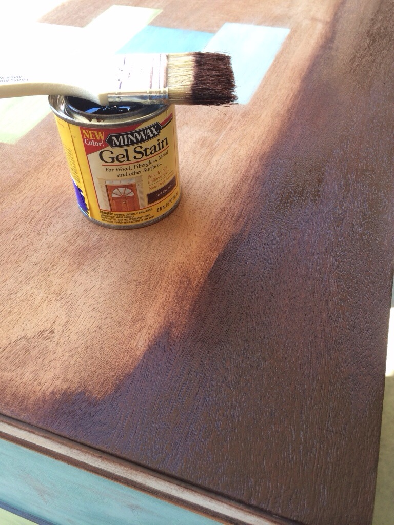 get wonderful table by using minwax gel stain ideas