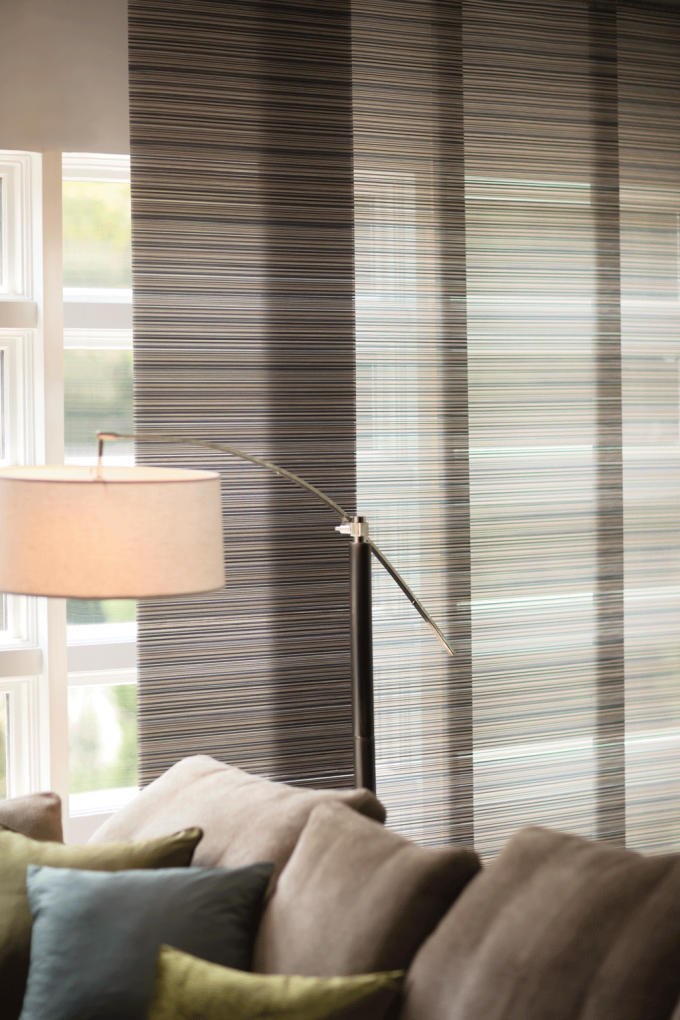 Glass Window With Pretty Levolor Cellular Shades For Home Interior Design Ideas