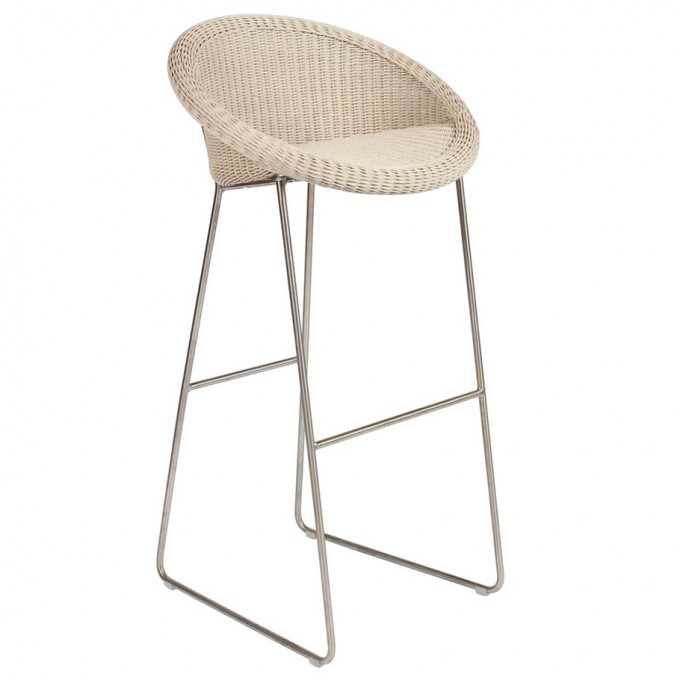 Great Rattan Stool With Metal Stand By Janus Et Cie Outdoor Furniture For Outdoor Furniture Ideas