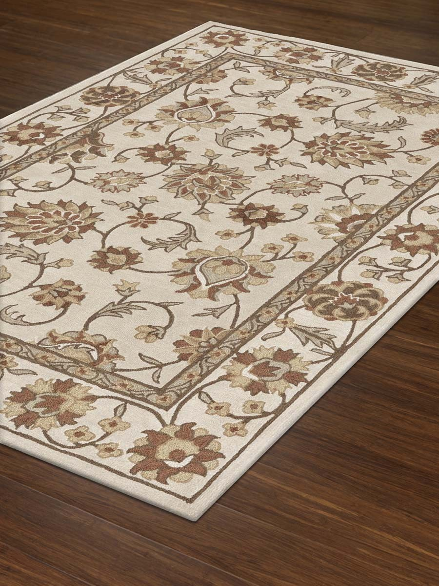 great rectangle dalyn rugs in white with floral motif for floor decor ideas