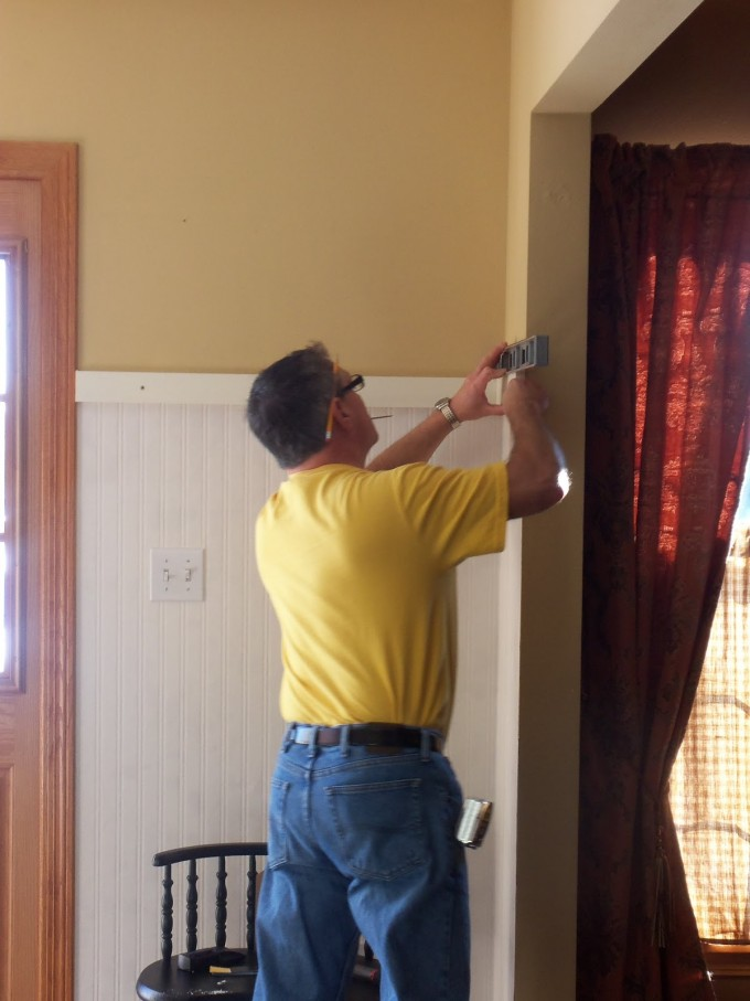 How To Install Wall Doctor Beadboard Wallpaper On Yellow Wall Ideas