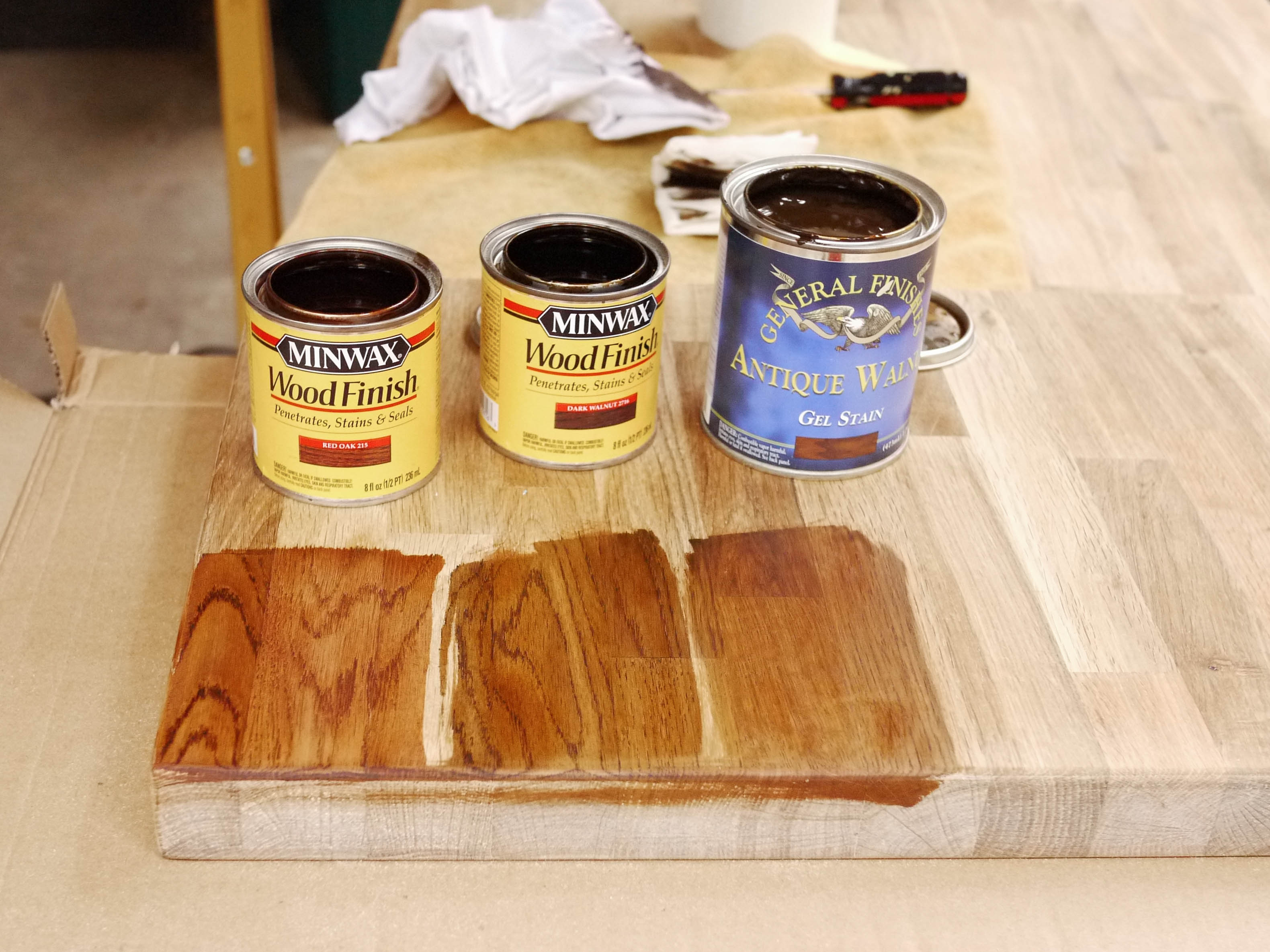 Ikea Butcherblock Countertops using minwax gel stain ideas