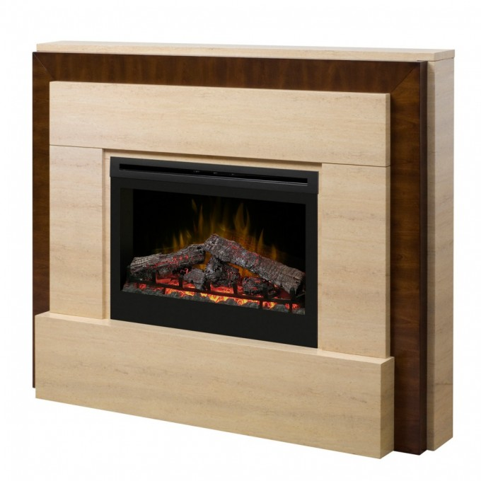 Inspiring Black Framed Dimplex Electric Fireplaces With Decorative Mantel Kit For Heatwarming Ideas