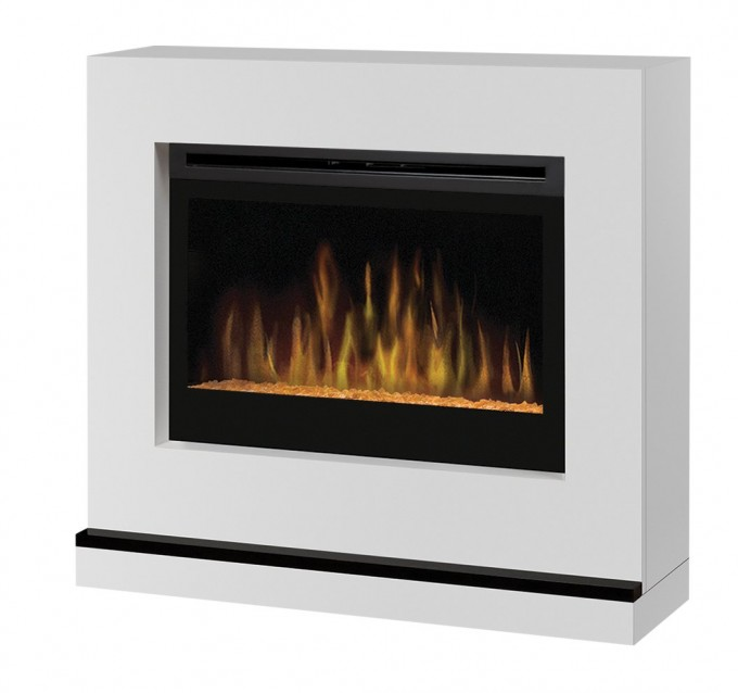 Inspiring Dimplex Electric Fireplaces With White Mantel Kit For Home Heatwarming Ideas