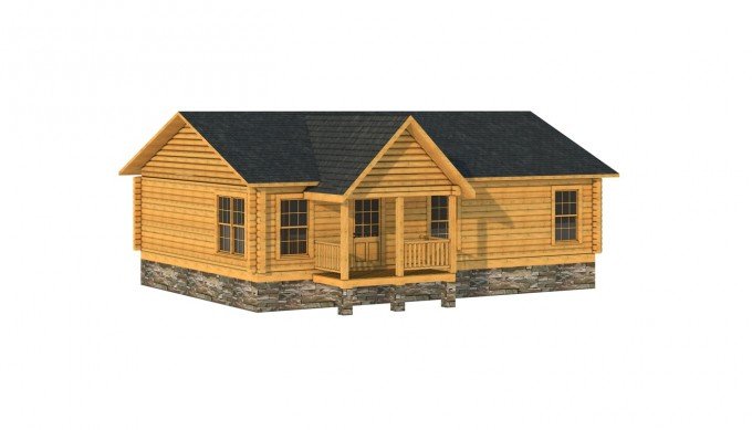 Inspiring Exterior Design Of Southland Log Homes With Dark Roof And Single Hung Windows Plus Railing Ideas