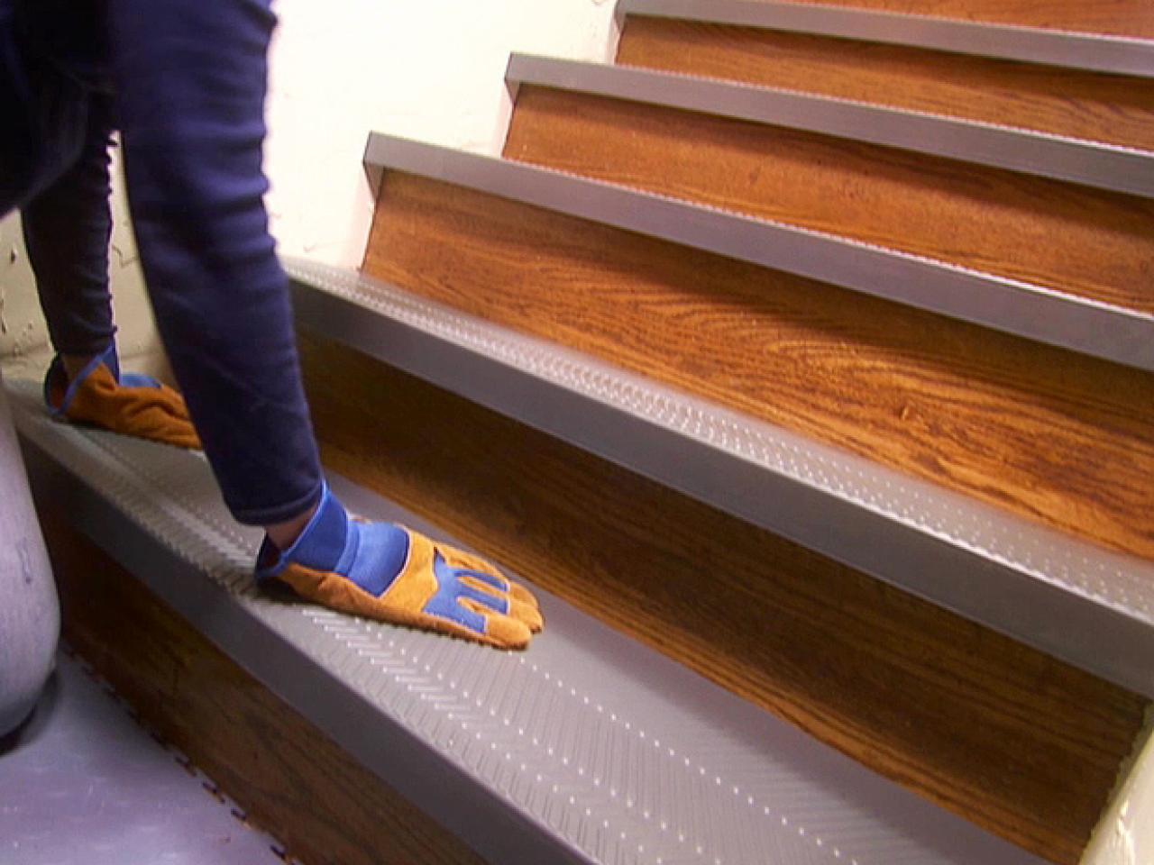 Perfect Inspiring Safety Stair Using Non Slip Stair Treads Ideas