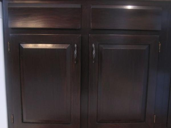 inspiring wooden cabinet using general finishes java gel stain in espresso for home furniture ideas