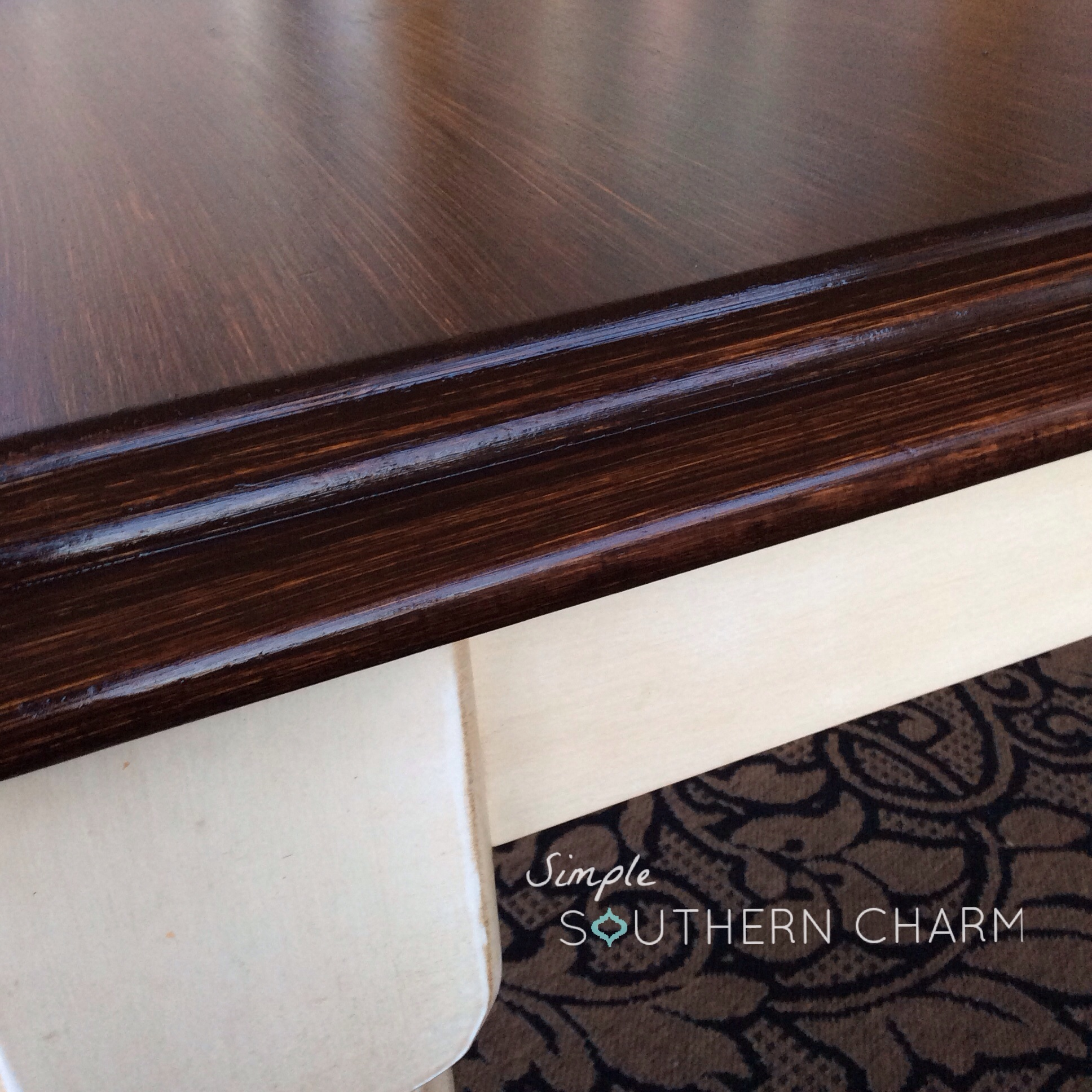 inspiring wooden table using general finishes java gel stain in espresso for home furniture ideas