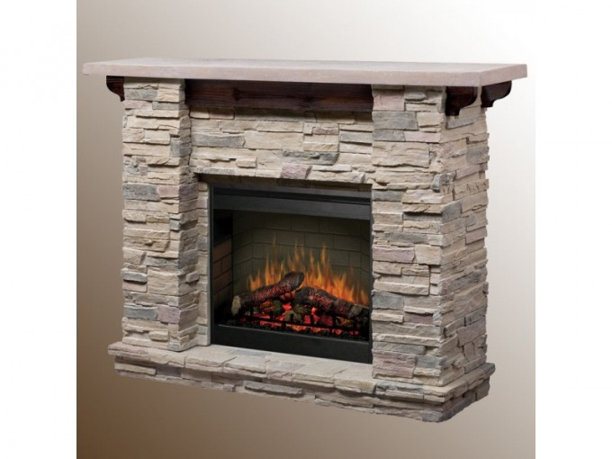 Interesting Dimplex Electric Fireplaces With Stone Veneer Mantel Kit For Home Heatwarming Ideas