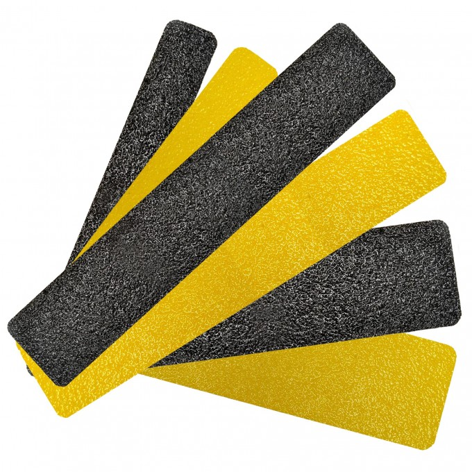 Interesting Non Slip Stair Treads In Black And Yellow For Stair Care Step Ideas