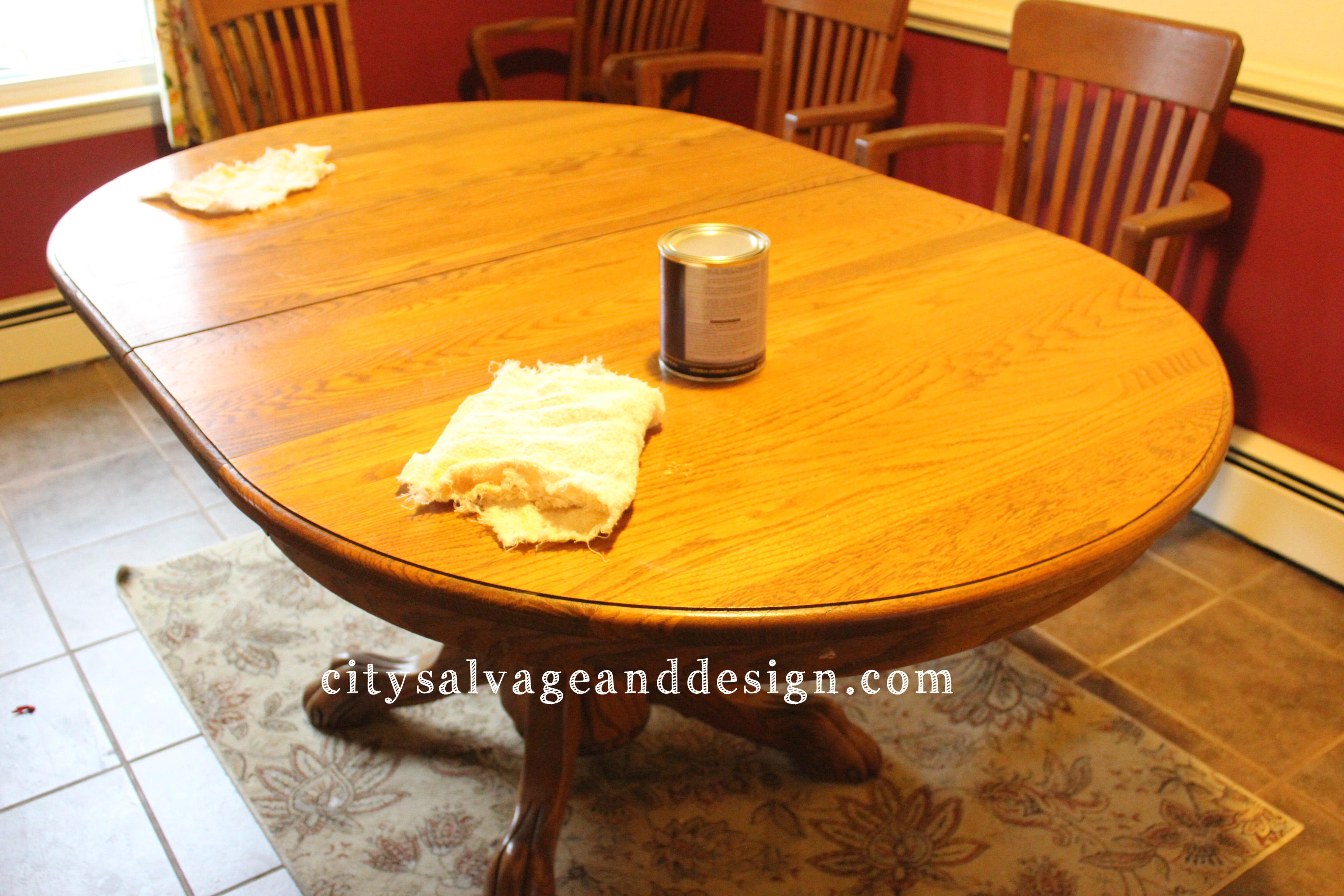 interesting wooden dining table using general finishes java gel stain in sandy brown color for home furniture ideas