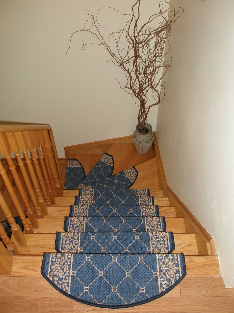 interesting wooden stair with wooden railing and charming non slip stair treads ideas