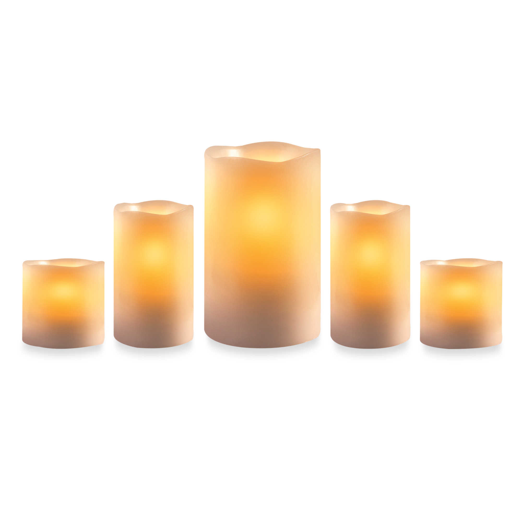 Loft Living led flameless candles with timer in Ivory for home decoration ideas