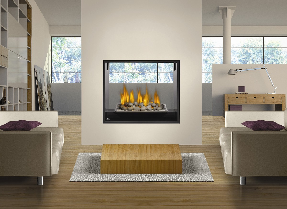 lovely electric napoleon fireplace on white wall matched with wooden floor plus white sofa set for family room decor ideas