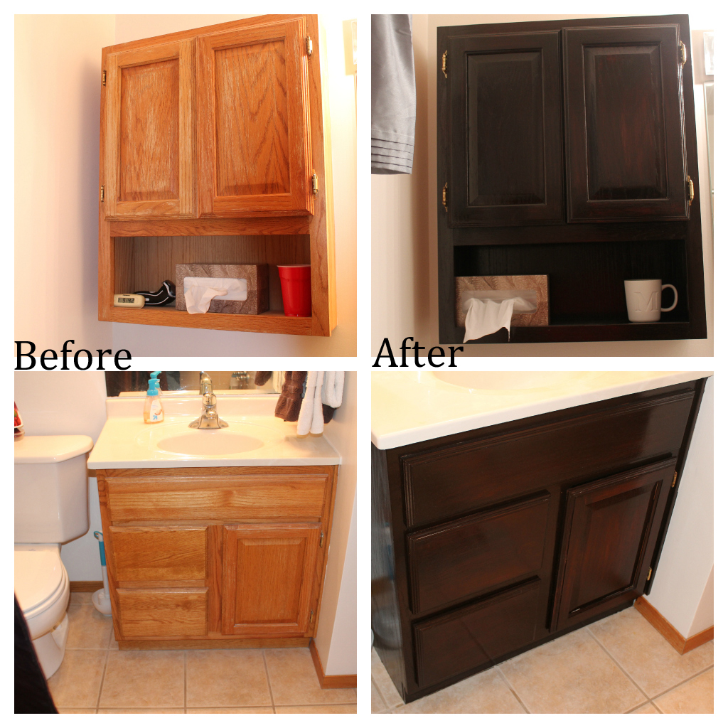 Furniture using general finishes java gel stain on your wooden makeover wooden bathroom cabinet using general finishes java gel stain to get chicer lok nvjuhfo Image collections
