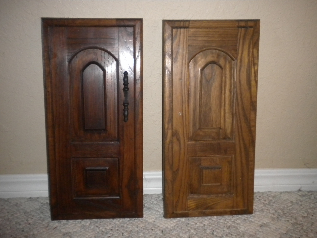 makeover wooden door using general finishes java gel stain to get prettier looks