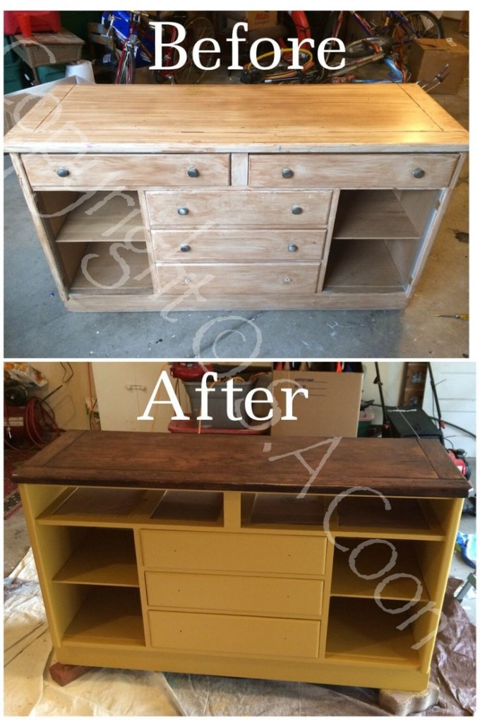 Makeover Wooden Dresser Using General Finishes Java Gel Stain To Get Prettier Look