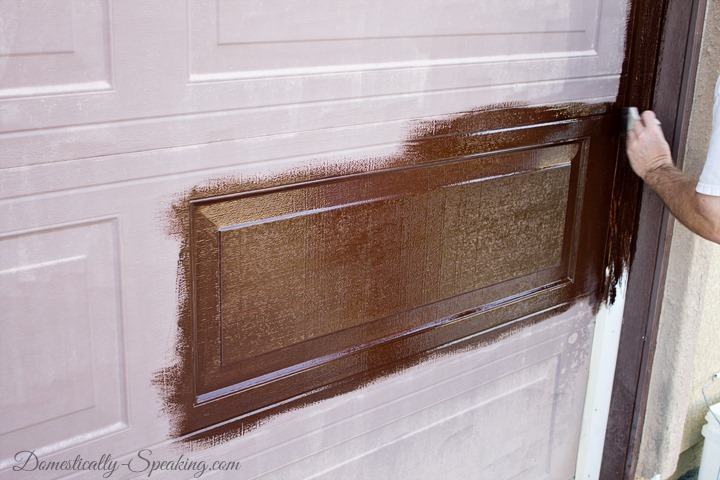 makeover your wooden garage door using minwax gel stain to get more charming look
