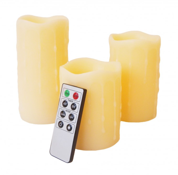 Mooncandles 3 Dripping Wax Flameless Candles With Timer For Home Decoration Ideas