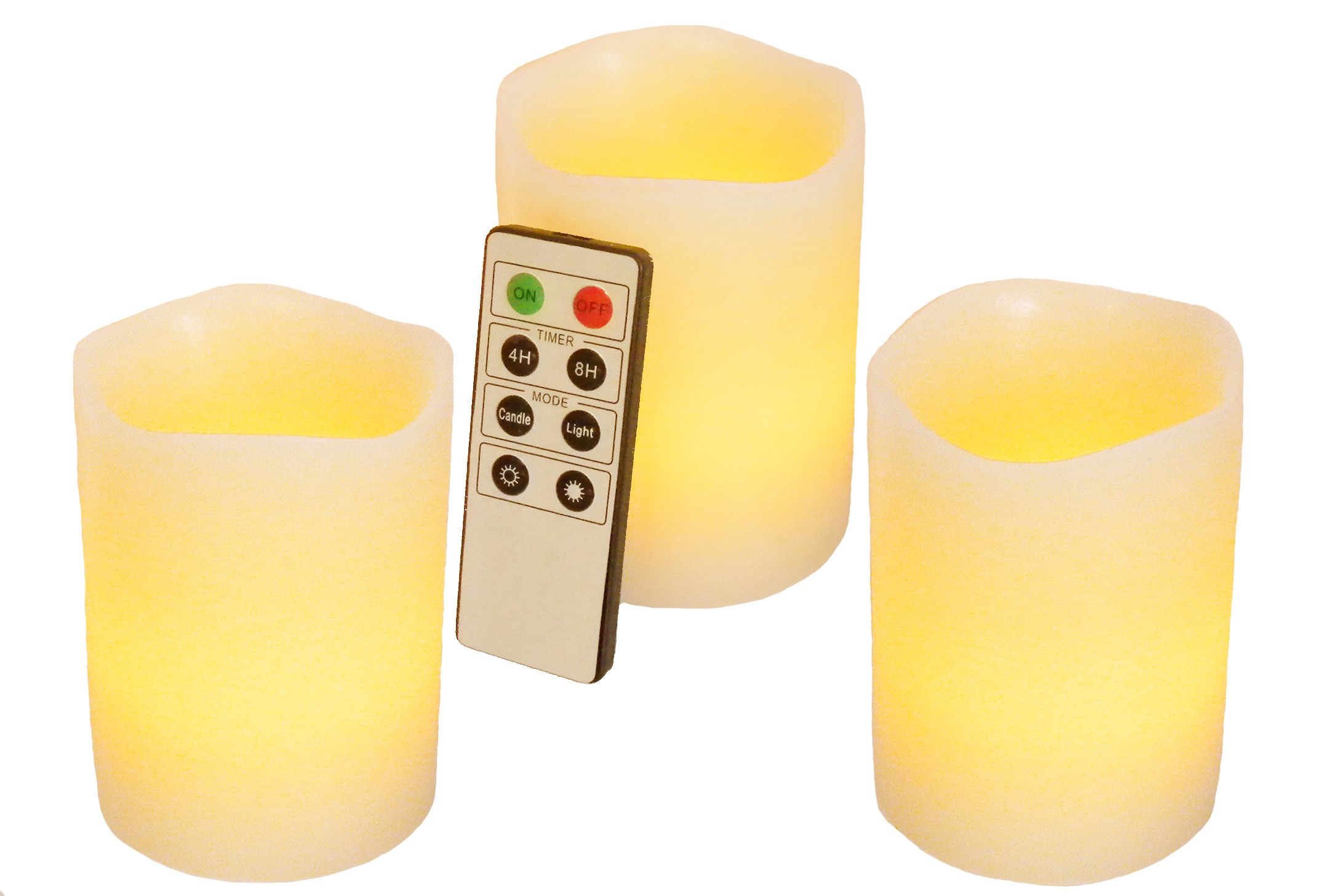 Mooncandles 3 Vanilla Scented Wax flameless candles with timer for decoration ideas