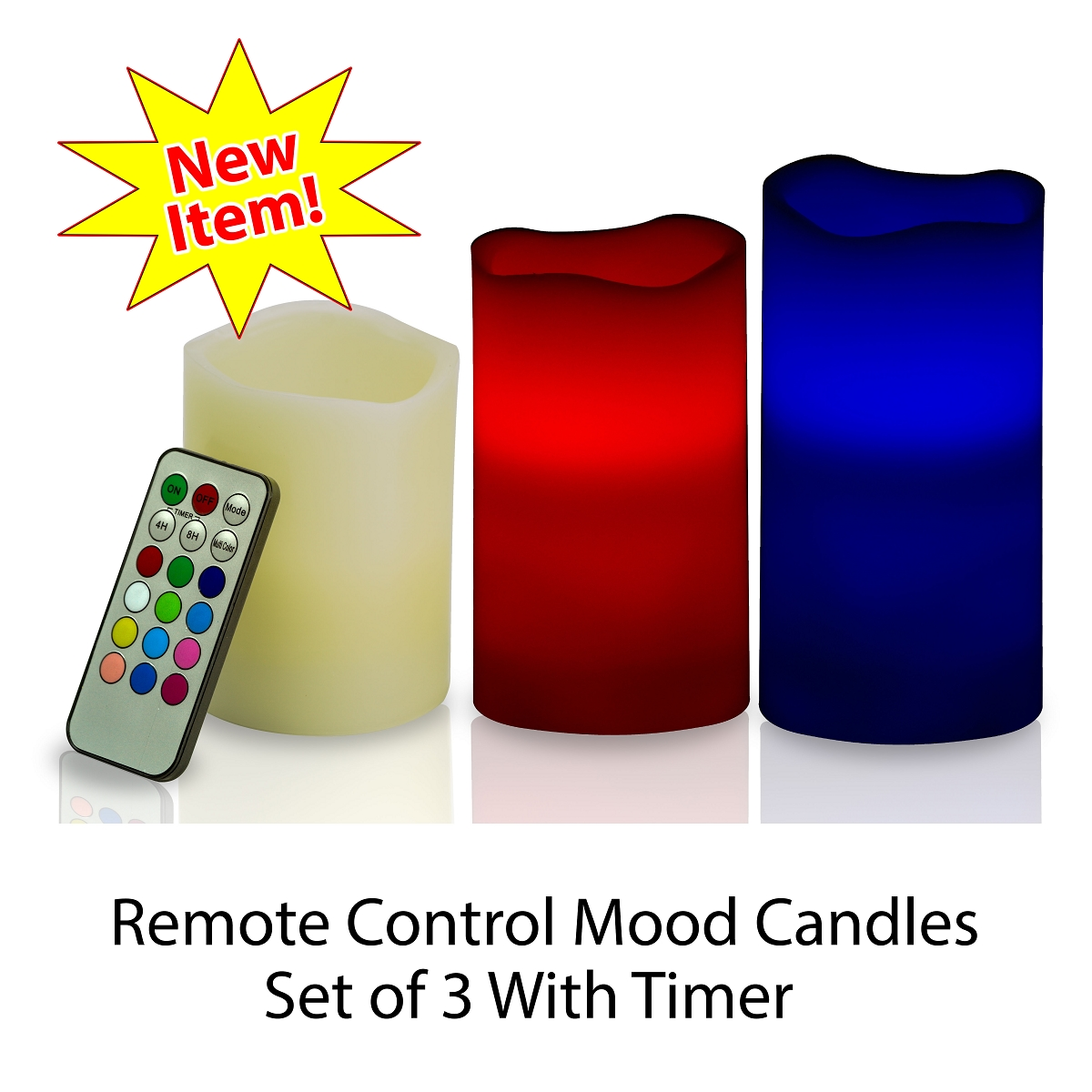 Pacific Accents pillar flameless candles with timer with color for home decoration ideas