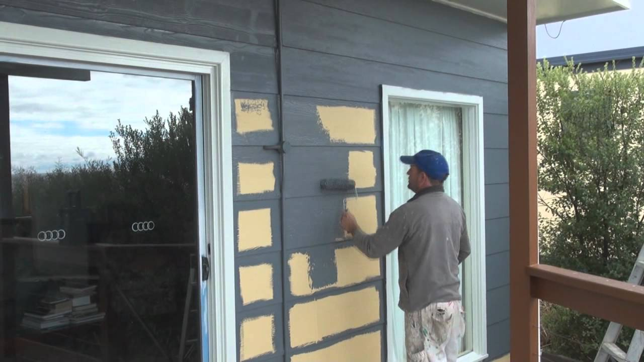 Painting hardie plank siding in gray for home exterior design ideas