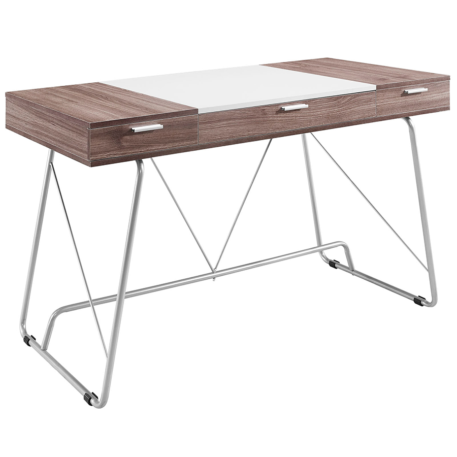 Powell Birch Desk with metal stand and drawers by eurway furniture for home furniture ideas