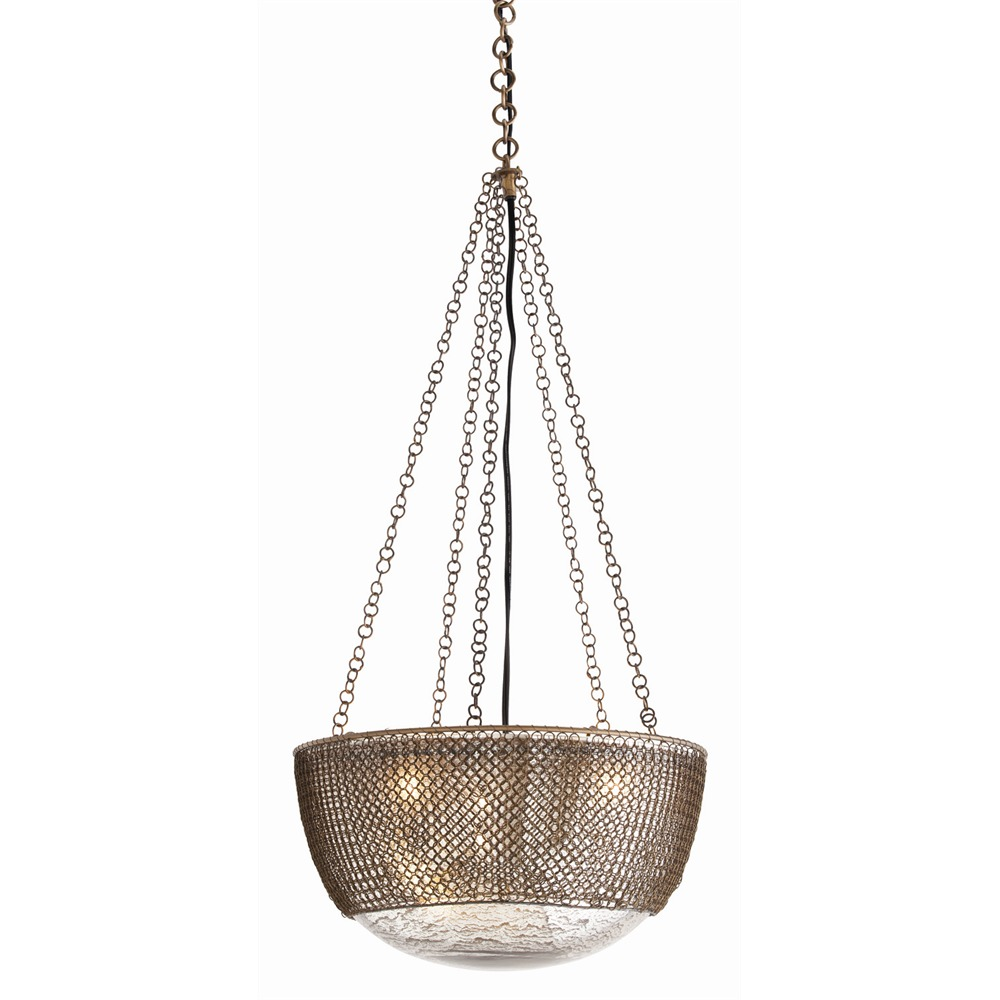 pretty Chainmail Pendant by Arteriors Lighting for home lighting ideas