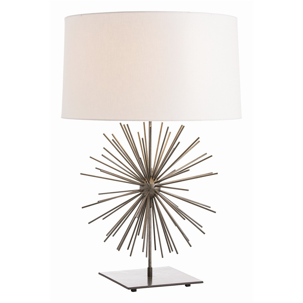 pretty Table Lamps with white shade and sunburst body design by Arteriors Lighting for home decor ideas